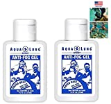 Aqua Lung America 2 Bottle of Crystal Clear Vision Anti-Fog Solution for Dive Mask Swim Scuba...