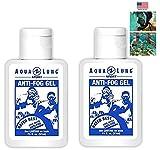 Aqua Lung America 2 Bottle of Crystal Clear Vision Anti-Fog Solution for Dive Mask Swim Scuba Snorkel Mask Beach Vacation Diving Snorkeling Trip Pool Gym Bag School Locker