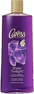 Caress Body Wash, Sheer Twilight Black Orchid & Juniper Oil Scent 18 oz (Pack of 4)