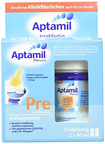 Aptamil Pre Anfangsmilch, trinkfertig, 6er Pack (6 x 180 ml)