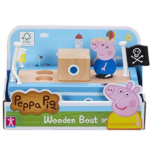 Peppa Pig 674 07209 Peppa's Wood Play Boat & Figure, Multicolor