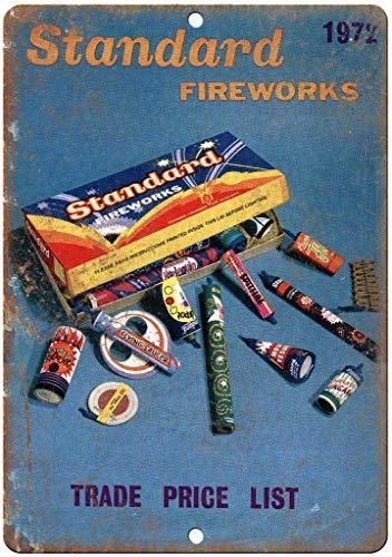 Ellis Standard Feuerwerk TRE Preisliste Metallschild Retro Blech für Geschäft Mann Höhle Bar Home Dekoration Garage