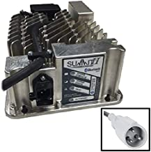 Lester Summit Series II Battery Charger 650W 36/48V with Club Car 3-Pin Molded Plug with 8.5 Ft. DC Cord