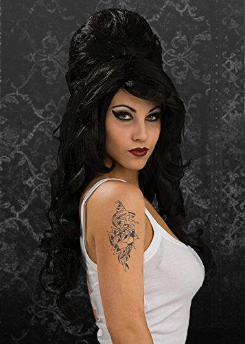 Gotik der schwarze Amy Winehouse Perücke