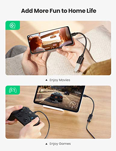 UGREEN USB C auf USB 3.0 Adapter für Laptop Tablet Handy USB C OTG Adapterkabel kompatibel mit iPad Air 2020, MacBook Pro, Galaxy Tab S7, S21 S20 S10 S9 S8 A51 A21s A21e, nova 7i, Sony Xperia XZ usw.
