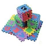 GlISR 36pcs / Set Niños Las Letras del abecedario números de Puzzle de Colores Alfombra niños juegan Suave Alfombra del Piso de Arrastre Puzzle niños Juguetes educativos (Color : 1)