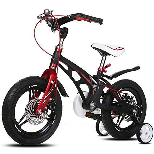 YumEIGE kinderfiets kinderfiets, kinderfiets met trainingsfiets 12/14 / 16 inch jongen en meisjes fietsen, geschikt voor kinderen van 2-8 zwart-wit beschikbaar