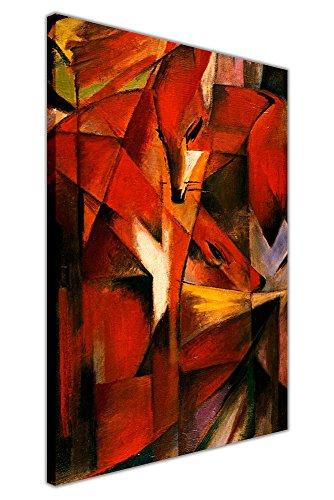 """""""Füchse"""" von Franz Marc, abstraktes, gerahmtes Wandbild auf Leinwand, Ölgemälde-Nachdruck, 03- A2 - 24"""