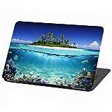 Laptop Folie Cover Strand Urlaub Paradies Klebefolie Notebook Aufkleber Schutzhülle selbstklebend Vinyl Skin Sticker (15 Zoll, LP 19 Insel Paradies)