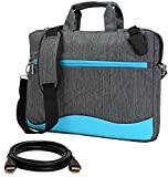 Slim Blue Laptop Messenger Bag 14 15.6 inch with HDMI Cable for MSI CX Series, WS GT WT Series, X Leopard, Prestige Series