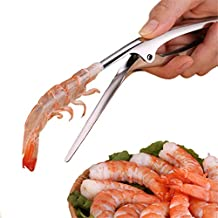 BINGLALA Shrimp Peeler Tool Stainless Steel Prawn Shrimp Peeling Plier Deveiners Kitchen Crayfish Shrimp Stripping Prawn Peelers Tools Peel Seafood Tools