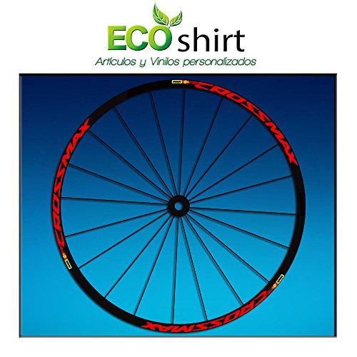 Ecoshirt Z2-XOKQ-02SK Pegatinas Stickers Llanta Rim Mavic Crossmax SL Pro Am50 MTB Downhill, Rojo 29