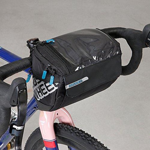 Docooler Fahrrad Lenkertasche multifunktional mit Transparentem PVC-Sichtfenster fürn Handy, 3L, wasserdichtes Material, 20 * 10.5 * 16cm - 2