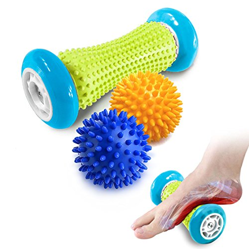 Pasnity Foot Massage Roller Spiky Ball Foot Pain Relief Massager Relieve Plantar Fasciitis and Heel...