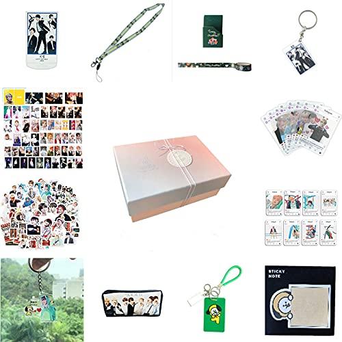 Kpop JIMIN - Juego de 97 regalos para el ejército de Bantan Boys World Box incluye tarjetas postales, estuche de regalo para hija nieta (Park Ji Min-BOX)