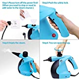 MLMLANT Handheld Pressurized Steam Cleaner 11-Piece Accessory Set - Multi-Purpose Multi-Surface All Natural, Chemical-Free Steam Cleaning Home, Auto, Patio, More