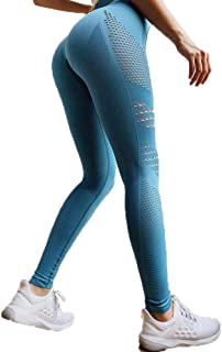 Hip Lifting Leggings Seamless Tummy Control Yoga Pants Stretchy High Waist Compression Tights Sports Pants Push Up Running...