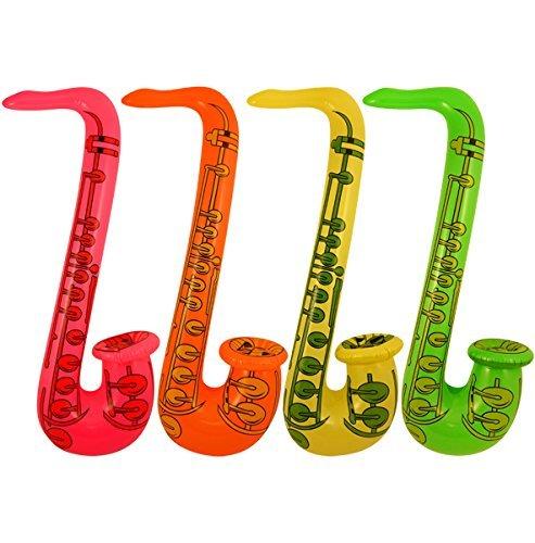 Saxophone Gonflable 75 cm (Couleur : Multi) par Les Dragons Den