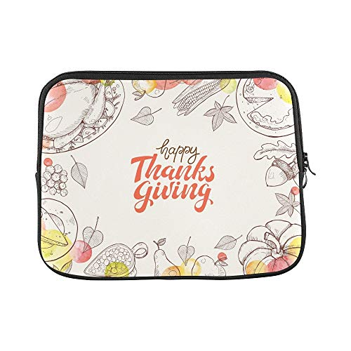 LIANGWE Design Benutzerdefinierte Happy Thanksgiving Day Grußkarte Vorlage Hülle Weiche Laptop Tasche Tasche Haut Für MacBook Air 11