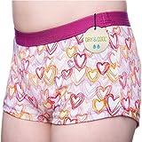 DRY & COOL Tages-Inkontinenzslip für Mädchen | Unterwäsche | Waschbar | Absorbierende Einlage | Hearts | 134-140 cm (9-10 Jahre)