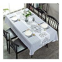 ファッションプリントテーブルクロス、長方形のPVCワイプ可能なクリーンテーブルカバー、キッチンダイニング/レストラン/パーティーデコレーションテーブルクロス用,8,140x180cm