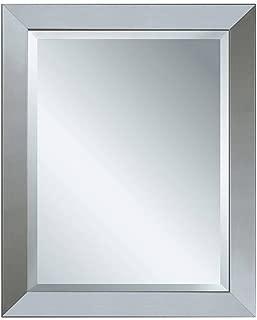 Head West 26 x 32 Modern Brush Nickel Mirror, 26x32 inches