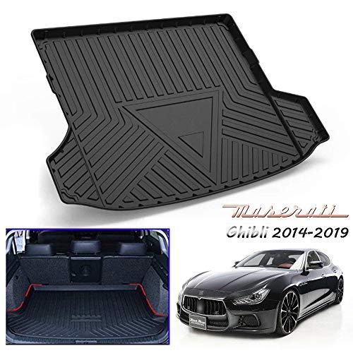 Caucho de Servicio Pesado Protector Alfombrilla Cubre Maletero para Maserati Ghibli 2014-2019, Alfom
