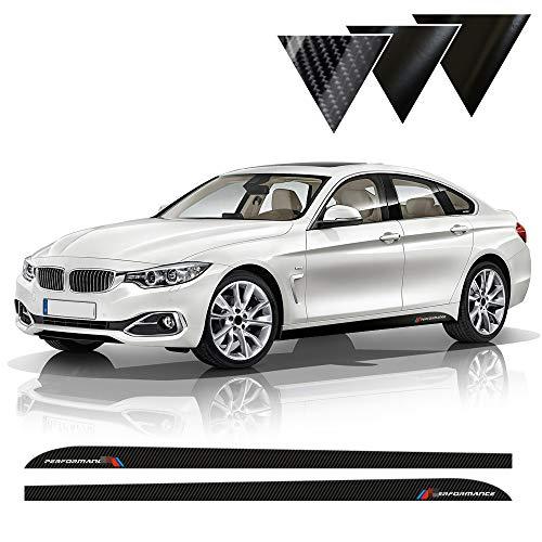 SLONGK 2 Stück Seitenstreifen Rock Schweller Aufkleber Aufkleber Dekoration M Performance Car Styling, Für BMW 4er F32 F33 F34 F36 420i 428i 435i