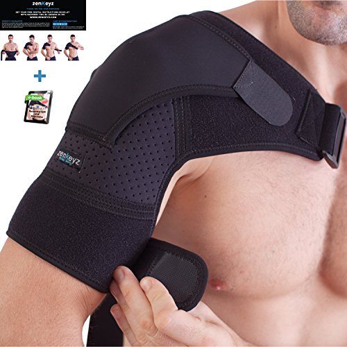 Shoulder Brace for Men and Women+ Bonus – for Torn Rotator Cuff Support,Tendonitis, Dislocation,...