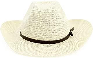 LiWen Zheng 2019 New Women Men Straw Western Cowboy Hat Roll Up Brim Sun Hats Summer Beach Sombrero Hombre Lifeguard Jazz Hats