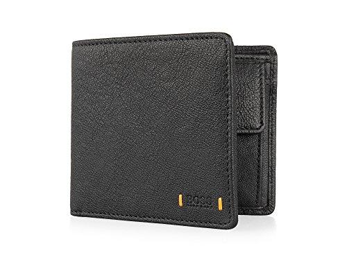 Hugo Boss Ora Streetline 4cc Black Leather Billfold Wallet Gift Box New