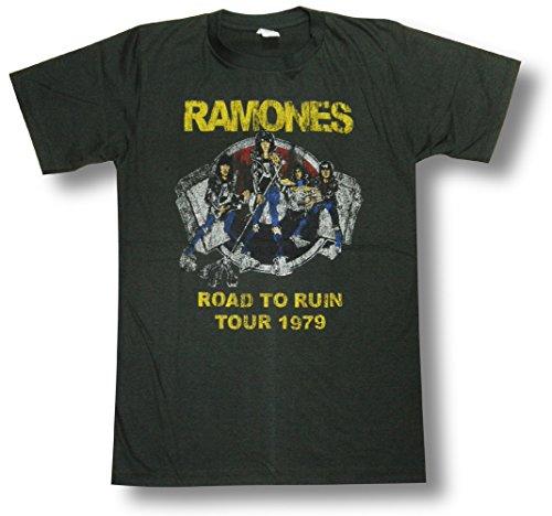 ラモーンズ/RAMONES/ロード・トゥ・ルーイン/Road To Ruin/ロックTシャツ/バンドTシャツ (L)