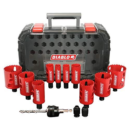 产品描述:Diablo DHS14SGP 14Piece High Performance Hole Saw Set For Drilling Wood, Plastic, Aluminum, Metal Stainless Steel