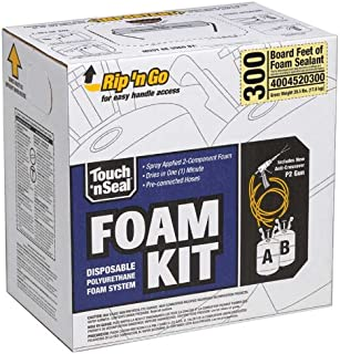 Touch N Seal 4004520300 Home Sealing Low Density DIY Insulating Foam Kit 300 BF