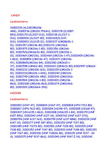 AMMORTIZZATORE LAVATRICE KIT 2PZ CANDY-HOOVER E VARIE MARCHE 41017168
