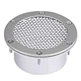 Vent Inlet Grille, Akozon Air Intake Modify, Universal Car Racing Air Duct Grille Bumper Vent Inlet for Cold Air Intake (Silver)