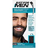 Just For Men Formule Coloration Moustache Et Barbe Noir, E Élimine Les Poils Gris Pour Un Rendu Plus Épais - M55