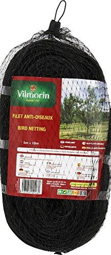 Vilmorin VC00004 Filet Anti-Oiseaux Polyéthylène 5 x 10 m Repousse-pesticides