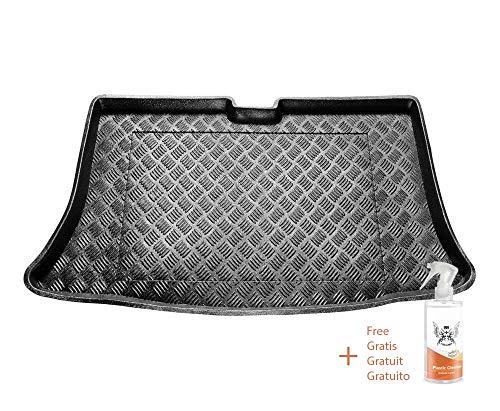 Rezaw Kofferraummatte aus PVC Passend für Nissan MICRA III K12 (2002-2010) + Kunststoffreiniger (Geschenk)
