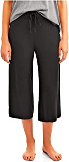 Secret Treasures Black Soot Lounge Sleep Capri Pants