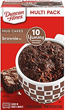 10 Pack Duncan Hines Mug Cakes, Brownie Mix, 26.4 oz