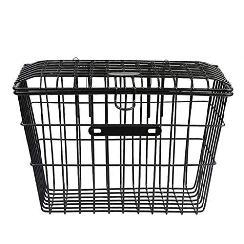 Frauherzz Hinterkorb für Gepäckablage Fahrradkorb Gepäckträger Aufbewahrungskorb, Hund, Metall