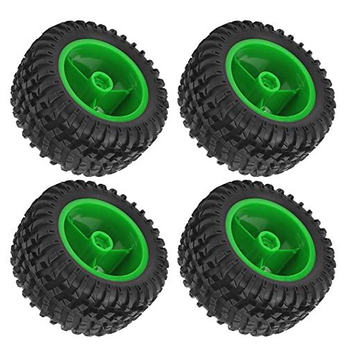 WYDM Ruedas y neumáticos RC de 4 Piezas, Juego de Ruedas de neumáticos de Goma, Piezas de Repuesto modificadas mejoradas compatibles con los Coches RC