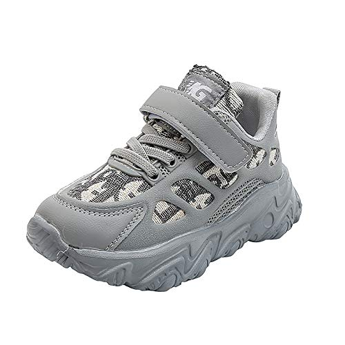 Zapatillas deportivas de moda para caminar, senderismo, entrenamiento, zapatos deportivos para niños, cómodos y usables, proteger los pies, gris, 31