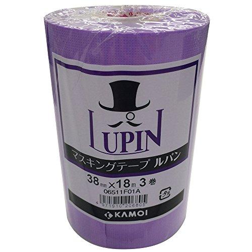 カモ井 マスキングテープ ルパン 38mm×18m 3P [養生テープ]