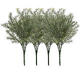 4 pz artificiale verde rami di piante finte cespugli di foglie spray finto verde piante artificiali per casa giardino decorazione matrimonio composizione floreale