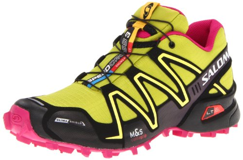 Salomon Damen 3 CS Sportive Sneakers, Grün (S Green/Black/Fancy Pink), 39 1/3 EU