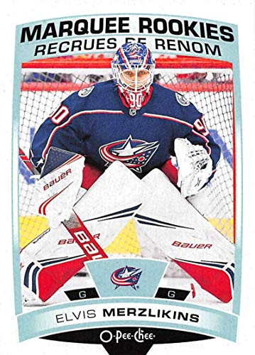 2019-20 O-Pee-Chee Update OPC Hockey #626 Elvis Merzlikins RC Rookie Columbus Blue Jackets Official NHL Trading Card made by Upper Deck