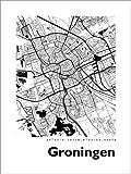 Poster 50 x 70 cm: Stadtplan von Groningen von 44spaces -