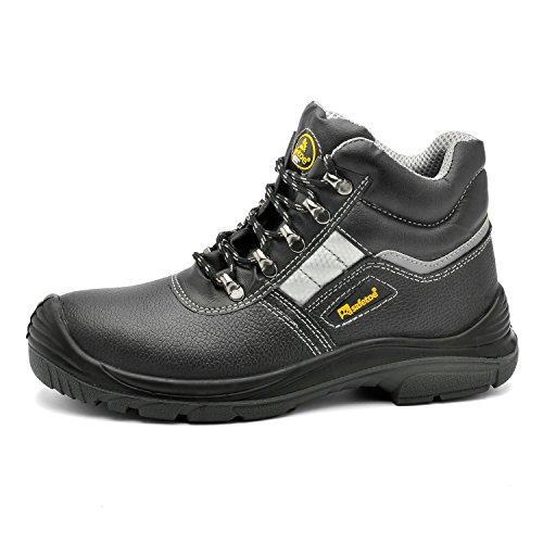 SAFEYEAR Botas de seguridad resistentes para hombre 8027 Site Safety Shoes, S3 botas de trabajo SRC altas con cordones para hombre y mujer, 43 EU
